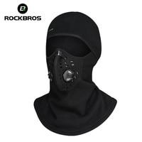 ROCKBROS Windproof Hunting Hat Mount Cap Skiing Warmer Dust Proof Face Mask Neck Fleece Scarfs Headgear