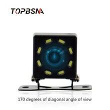 8 светодиодный Автомобильная камера заднего вида Парковка мониторы 170 градусов Универсальный Авто ночное видение HD