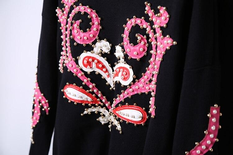 cou Casual O Arrivée Nouvelle Ensemble Femmes Photo Pantalon Top Color Perle Set 2018 Deux Survêtement Et Tricoté Pièces Perles Femelle Mode wtgXIqt