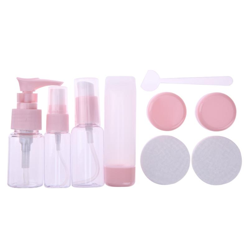 9pcs/Set Travel Mini Make Up Container Bottle Plastic Transparent Empty Eyeshadow Makeup Cosmetic Face Cream Pot Bottles 10pcs 5g cosmetic empty jar pot eyeshadow makeup face cream container bottle acrylic for creams skin care products makeup tool