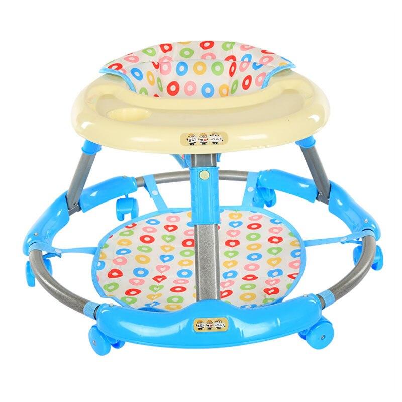 Assistant pliant de marche de marcheur d'activité de bébé d'enfant en bas âge de bébé avec les roues muettes de 360 degrés Anti renversement glissant 7 ~ 18 M