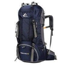 60L водостойкий полиэфирный рюкзак для путешествий на открытом воздухе спортивная сумка с дождевой крышкой походный рюкзак Mochila