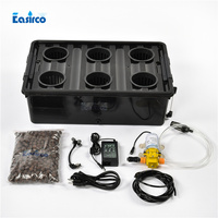 Aeroponic bucket 6sites of cup with cycle timer . Free shipping