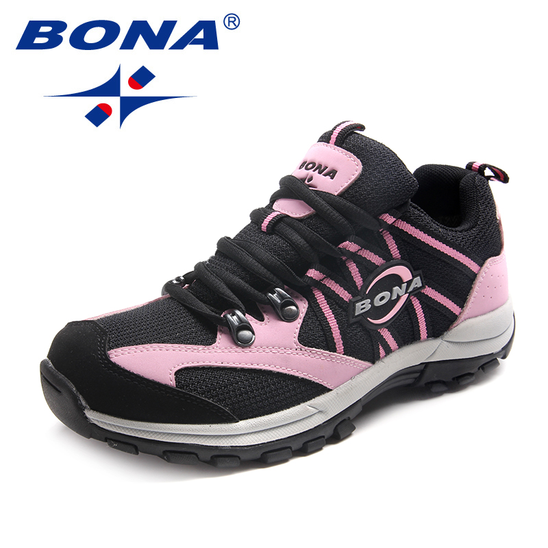 BONA New Classics Style Women Hiking Shoes Lace Up Women Sport Shoes Outdoor Jogging Sneakers Comfortable
