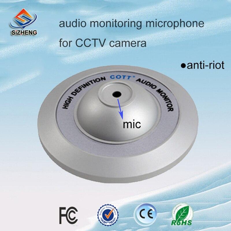 SIZHENG COTT-C4 solution de sécurité de microphone audio CCTV anti-émeute surveillance sonore pour l'enregistrement vocal