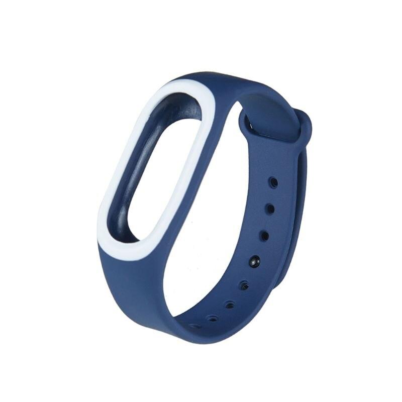 Силиконовые Красочные Браслет спорта ремешок для Xiaomi Эй плюс Smartband - Цвет: DBL
