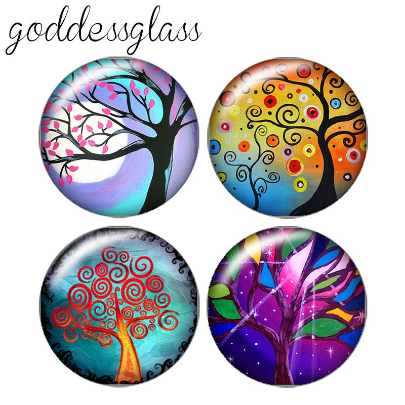 Beauty Colorful Tree of life 10pcs 12mm/18mm/20mm/25mm Round photo glass cabochon demo flat back Making findings ZB0436Beauty Colorful Tree of life 10pcs 12mm/18mm/20mm/25mm Round photo glass cabochon demo flat back Making findings ZB0436