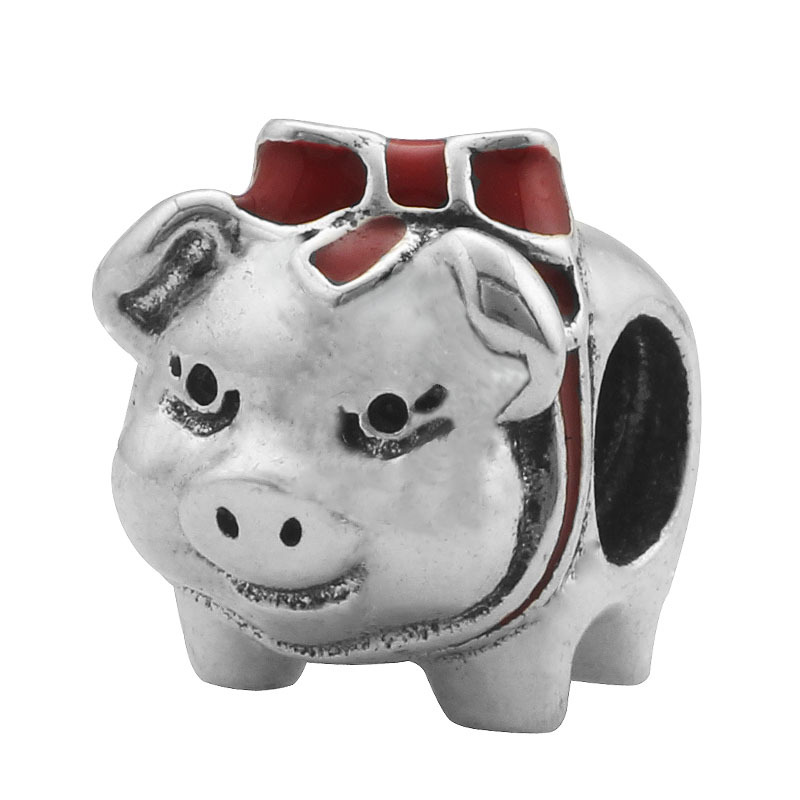 ツ)_/¯Regalo del Día de San Valentín patrón cerdo rojo bowknot gran ...