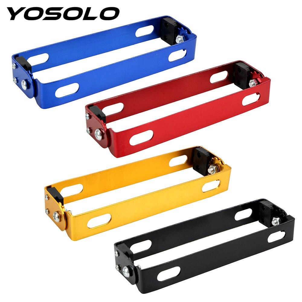 YOSOLO Adjustable Motorcycle Retrofit License Plate Frame  License Plate Bracket 4 Colors Universal Motorcycle Accessories|License Plate| |  - title=