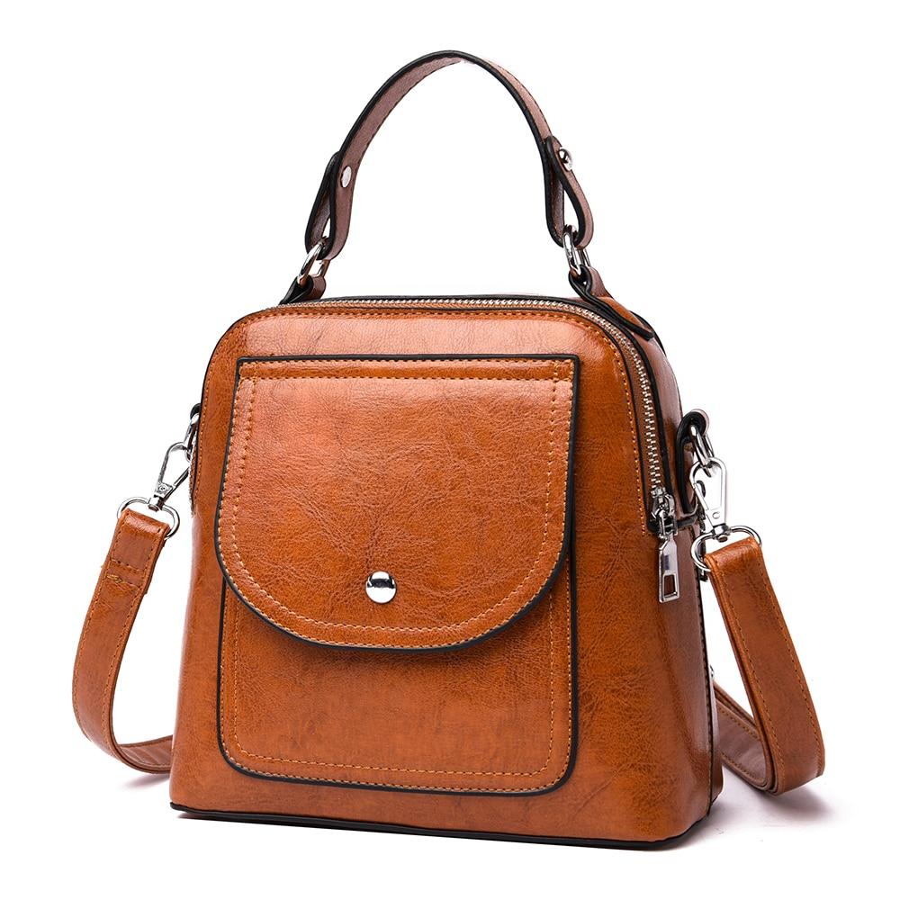 PU Leather Handbags Crossbody Bag For Women Vintage Bucket Shoulder Bag Tote Sac Shoulder