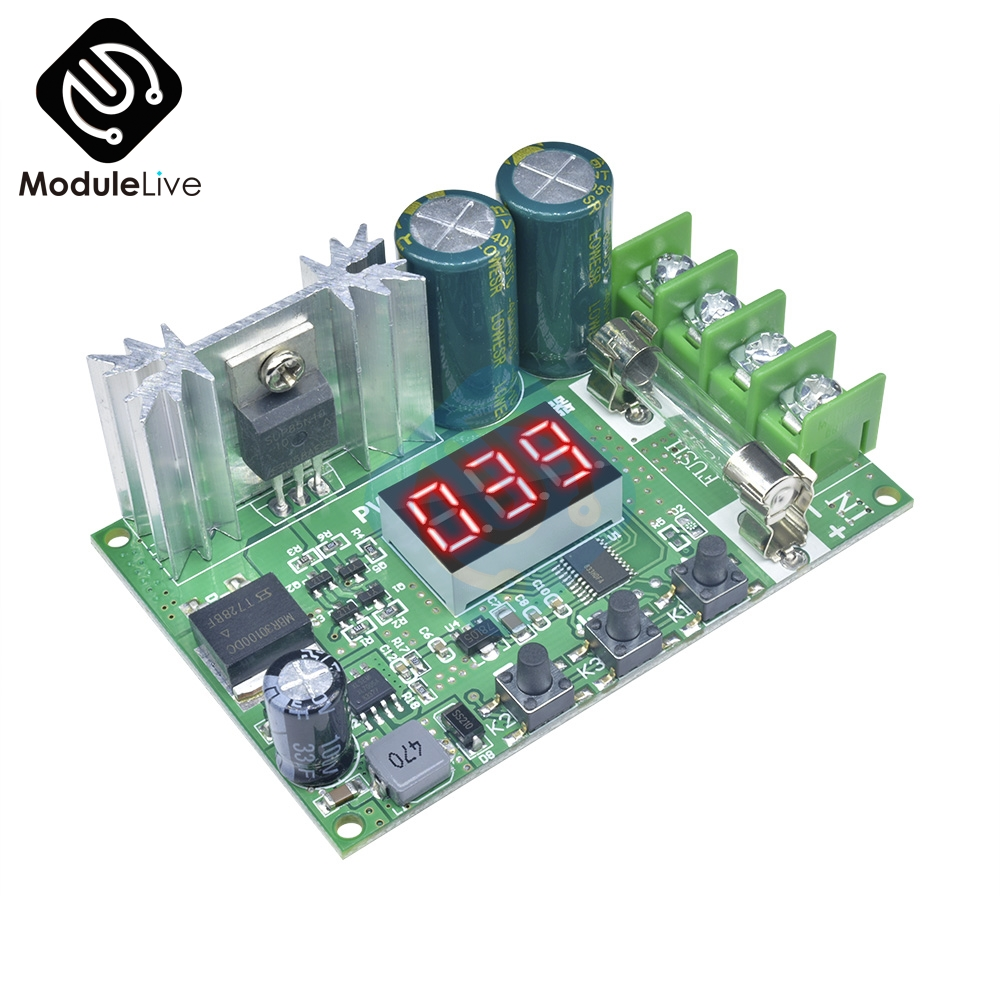 Red DC 12V-60V 10A 600W Motor Speed Controller Digital Display PWM Speed Regulator Module Pulse Width Adjustable Governor 14KHz image