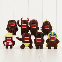 8pcs Kawaii Domo kun Domokun PVC Figure Collection dolls for Kids font b toy b font