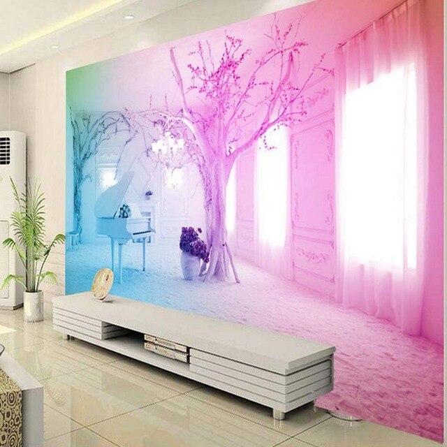 3d Wallpaper Balcony Tree Photo Mural Living Room Sitting Room Wall ...
