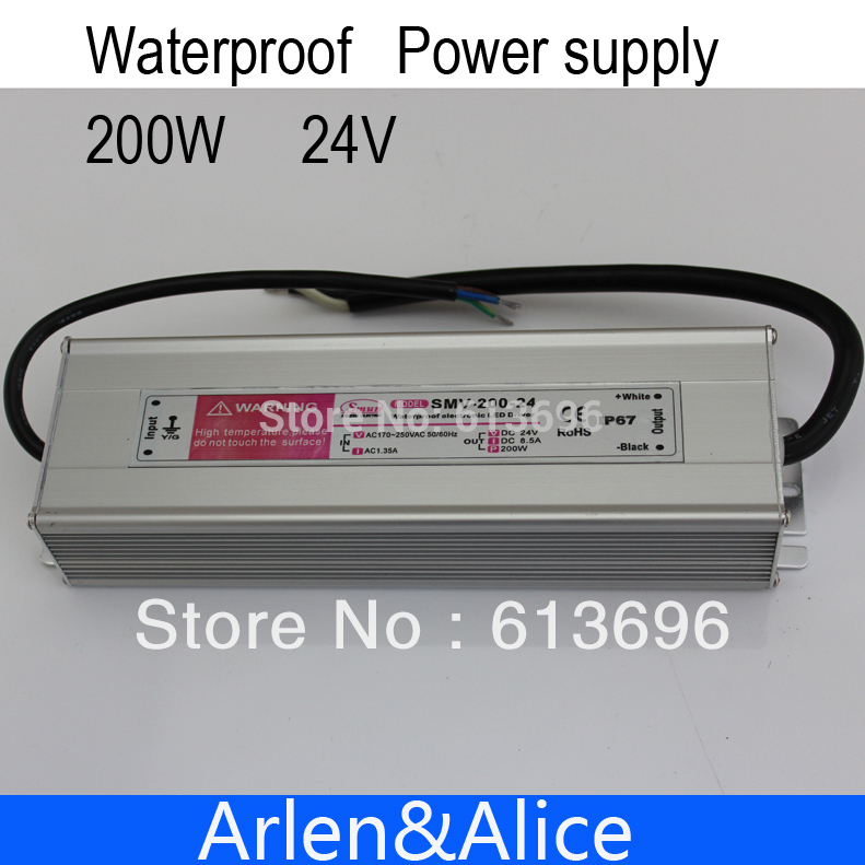 200W 24V 8.3A Waterproof outdoor Single Output Switching power supply for LED200W 24V 8.3A Waterproof outdoor Single Output Switching power supply for LED