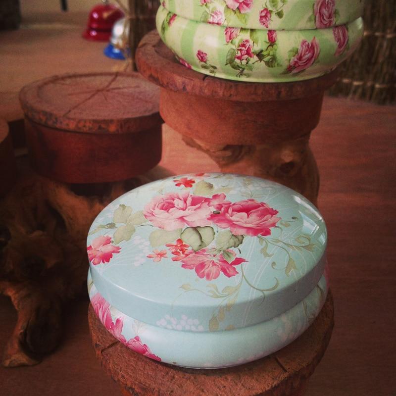 Blik Ronde Macaron Desserttin Doos Klein Opbergmunt Sieradendoos - Home opslag en organisatie - Foto 2