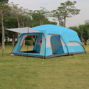 Image 4 - 4Colors Ultralarge 6 10 12 Double Layer Outdoor 2living Rooms and 1hall Family Camping Tent In Top Quality Large Space Tent