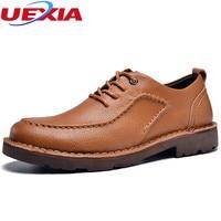New Leather Shoes Men Casual Platform Men Flats Shoes Handmade Foot Wear Oxfords Boss Dress Business