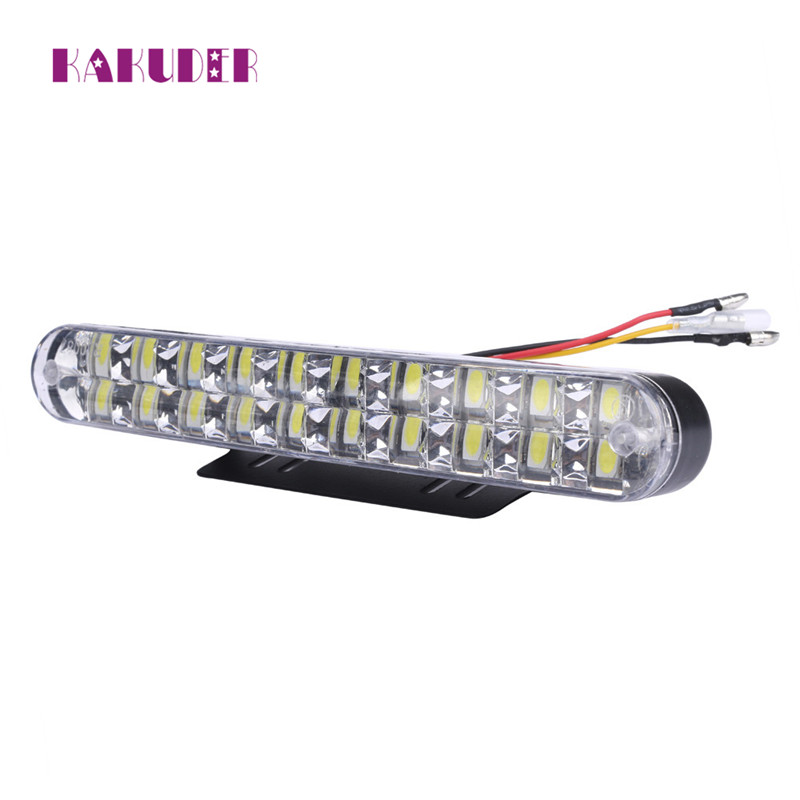 NEW 2PCS 2x 30 LED Car Daytime Running Light DRL Daylight Lamp with Turn Lights  fashion hot L616 brand new universal 40 w 6 inch 12 v led car work light daytime running lights combo light off road 4 x 4 truck light
