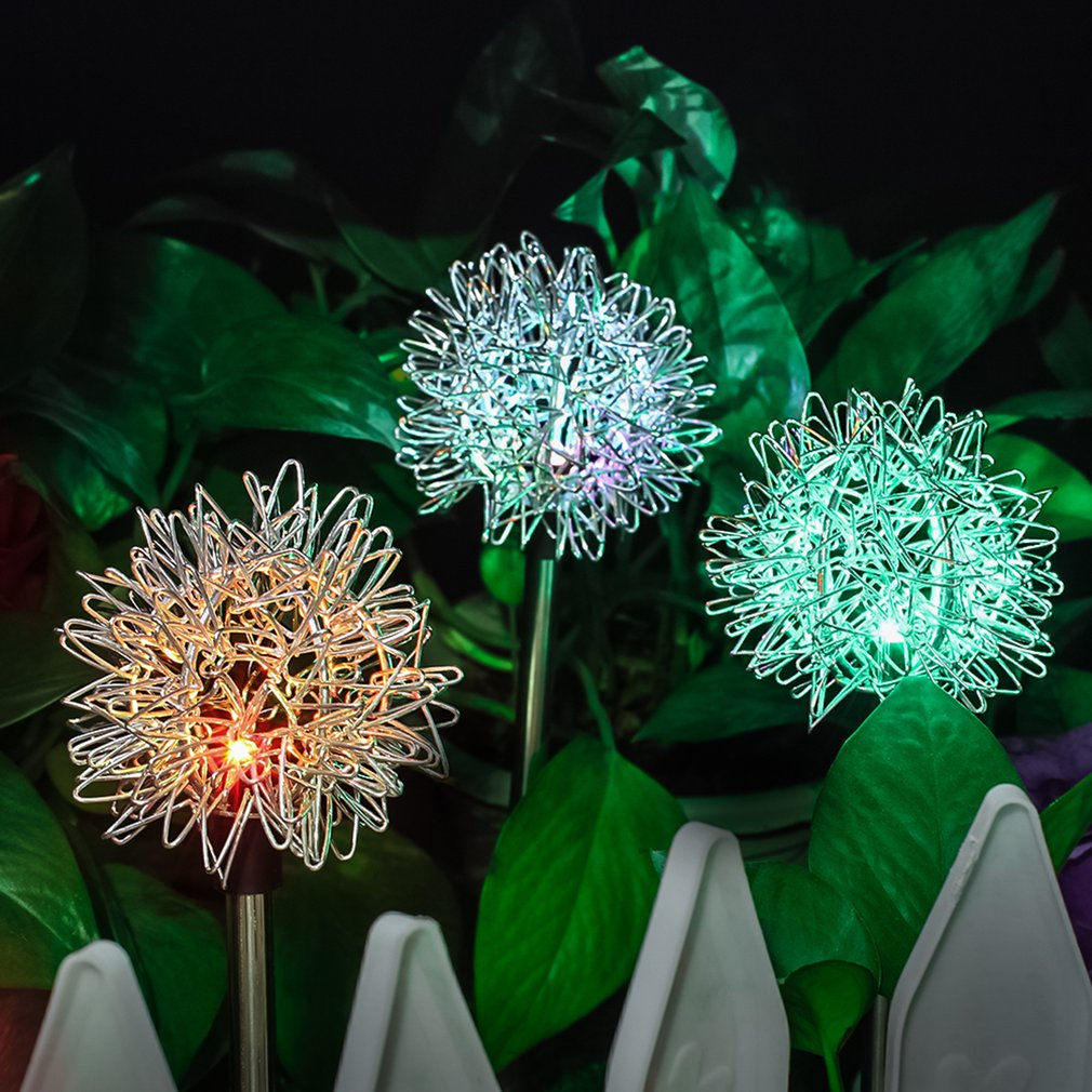 Solar Garden Decorative Lights Led Dandelion Lawn Ground Light Solar Solar Garden Lights