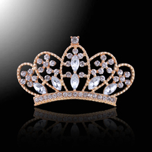 ФОТО 5pcs bling flatback crown metal full rhinestone buttons alloy wedding crown decorative buttons craft supplies hair accessories