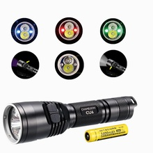 NITECORE CU6 Flashlight with nitecore NL189 18650 3400mah battery XP-G2(R5) 440LM LED with 3000mW Ultraviolet UV 365nm Tactical