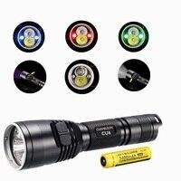 Nitecore CU6 фонарик с nitecore NL189 18650 3400 мАч батареи XP G2 (R5) 440LM LED с 3000 МВт Ультрафиолетовое UV 365nm Тактический