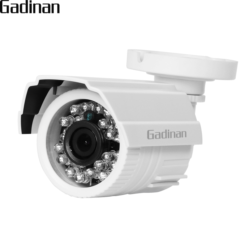 GADINAN AHD Bullet Camera 1MP 1.3MP 2MP 3MP 4MP Full HD CCTV Outdoor Security IR Cut Night Vision With 24PCS IR LED ABS Plastic hd ahd cvi tvi cvbs bullet camera with alarm speaker waterproof ip67 hd 1080p 4 in 1 security camera outdoor night vision ir 20m
