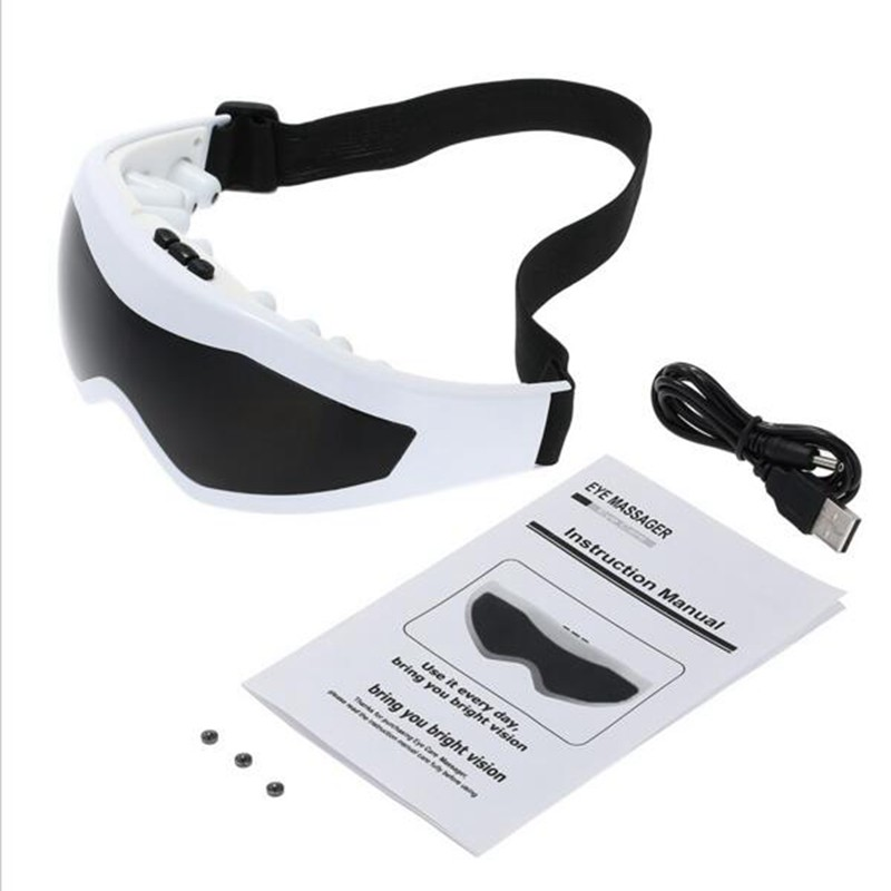 NULALA 818 Eye Massage Glasses USB Mask Relaxation Glasses Electric Vibration Release Alleviate Fatigue Eye Massager #2509 electric eye massager glasses magnet tharapy massage eye care vibration release alleviate fatigue forehead eye massager tool