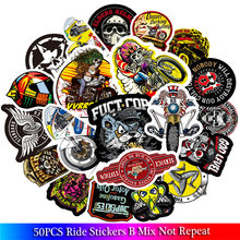 50PCS New Fashion Motorcycle Ride Stickers for Car Decal Skateboard Graffiti Snowboard Luggage Bag Laptop Helmet Guitar Vinyl(China)