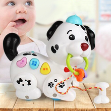 Early Childhood Education Pull Electric Dog Puzzle Intelligent Voice Learning Story Contact Sensor Learn To Climb Education like pictures like chinese early childhood education to enlighten oracle bone inscriptions textbook