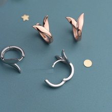 JC 2019 New Product Free Shipping S925 Sterling Silver Women Jewelry Polishing Rose Gold Mermaid Fishtail Stud Earring