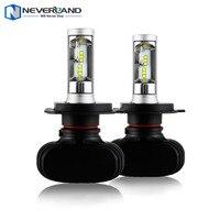 NIGHTEYE H4 9003 HB2 Hi Lo Beam 50W 8000LM 6500K CSP LED Car Headlight Conversion Kit