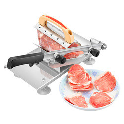 Multi Functional Auto Transit Beef Meat Slicing Machine Manual Adjustable Thickness Meat Cutter Mutton Beef Blade Cutter Grinder