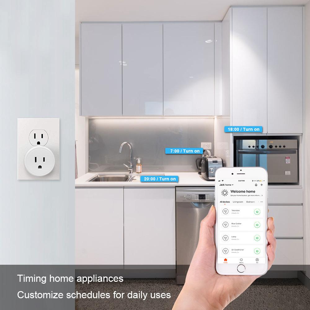 HTB1lWb4e21H3KVjSZFHq6zKppXa0 - FrankEver Mini US Wifi Plug with Surge Protector 110-240V Voice Control Smart Socket Work with Alexa Google Home Tuya APP