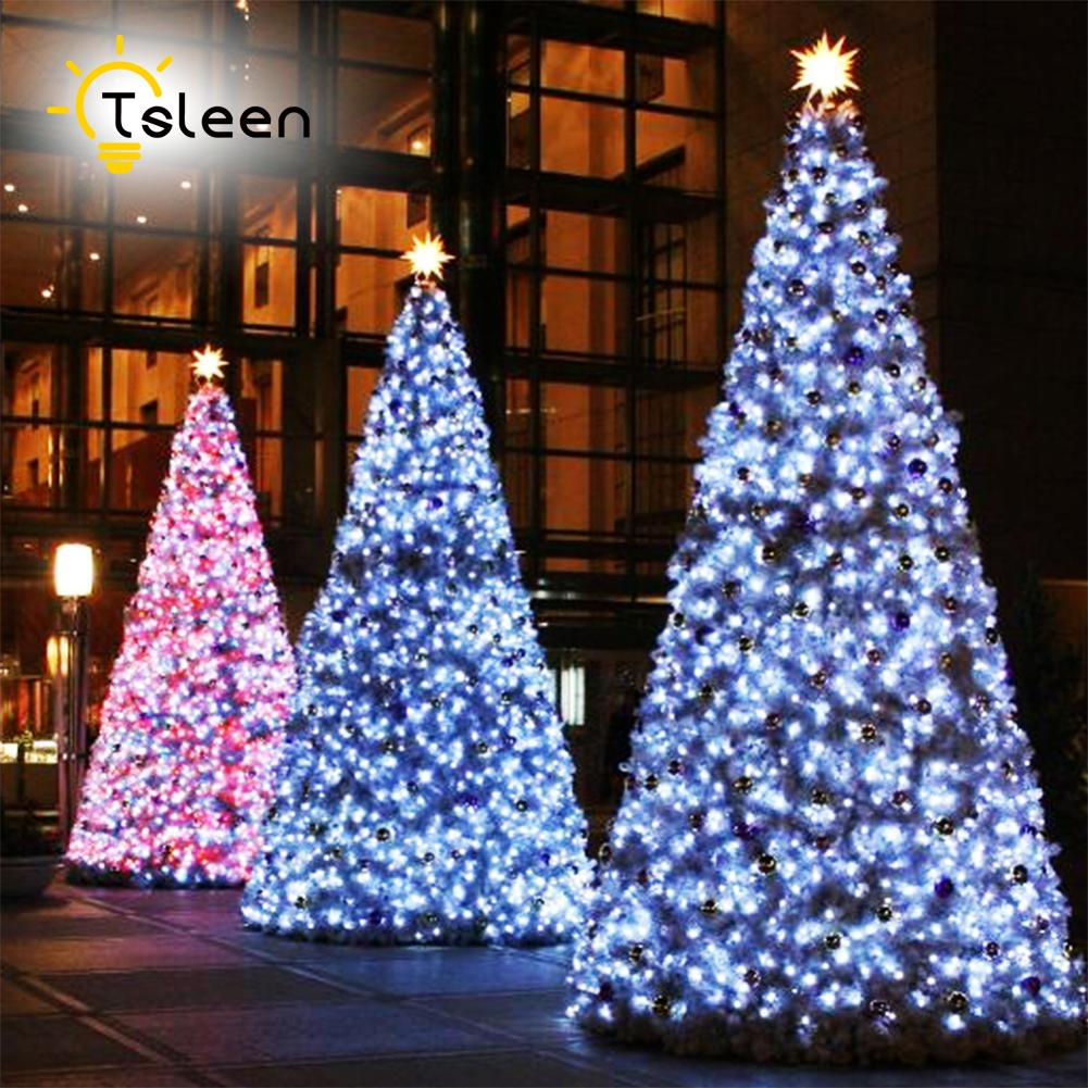 TSLEEN Cheap 20M 200 LED String Garland Christmas Tree Fairy Light Luce Waterproof Home Garden Party Outdoor Holiday Decoration