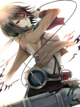 Attack on titan mikasa anime 150*200 cm de una sola capa #36783