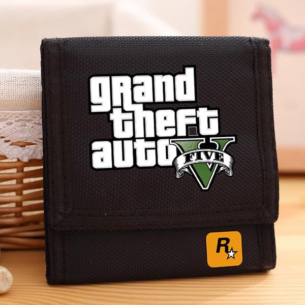 82b69f7e7f Nuovo Arrivo Grand Theft Auto Tela Portafoglio Per I Ragazzi di Modo GTA  Portafogli Gioco Money