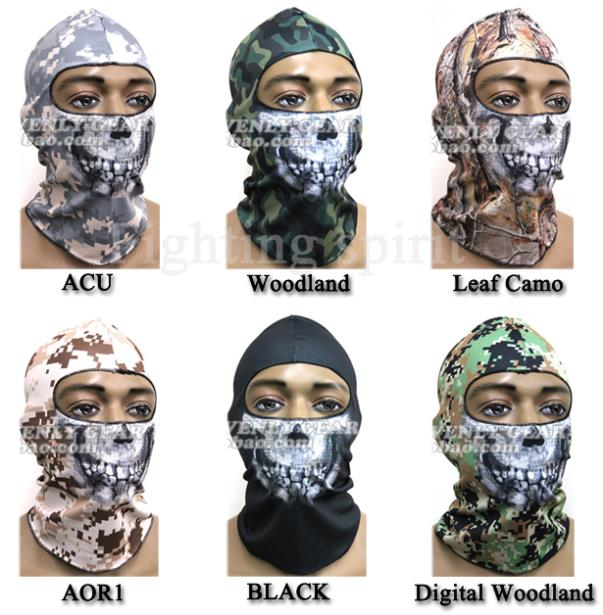 2015 new skull face mask scull bandana motorcycle snowboards ghost