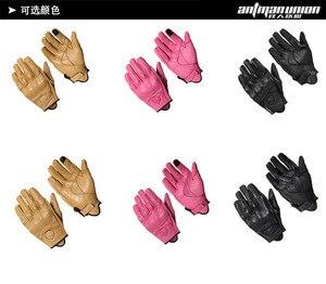 Image 5 - Luvas da motocicleta tela de toque couro vaca real genuíno ciclismo toda a temporada moto luva das mulheres dos homens corrida moto guantes luvas