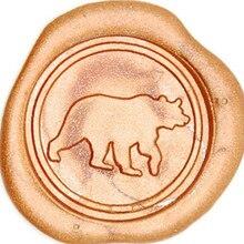 Набор восковой печати медведя, винтажная сургучная печать бейджа комплект печатей восковой набор инструмент подарок, на заказ