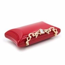 Milisente Brand Women Small Shoulder Bags Glossy Rhinestone Evening Purse Mini Party Clutch Messenger Crossbody Red Bag