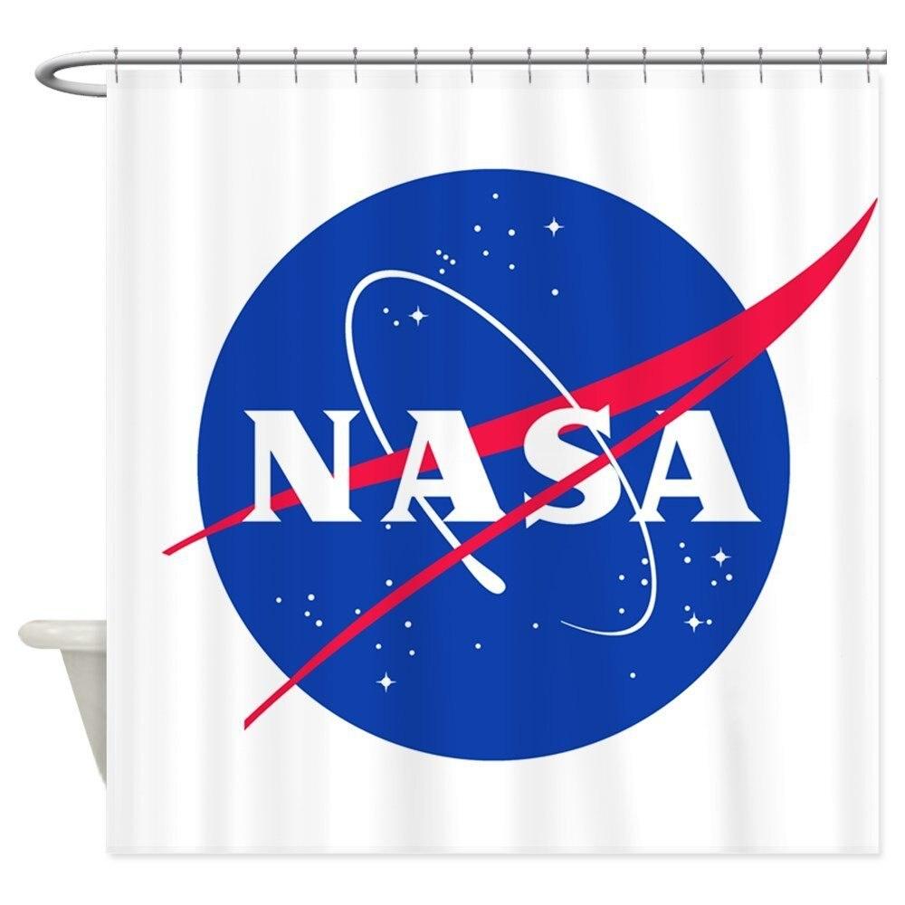 NASA Decorative Fabric Shower Curtain Bath Products Bathroom Decor with Hooks Waterproof