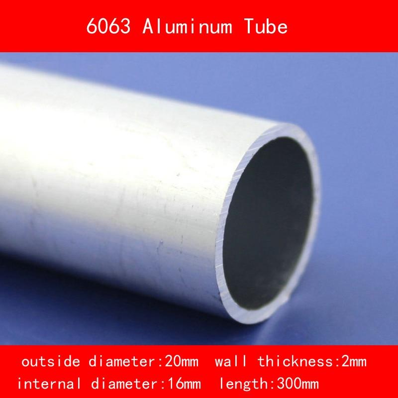 external diameter 20mm internal diameter 16mm wall thickness 2mm Length 300mm 6063 Aluminium Tube AL Pipe DIY Material 300mm length copper tube high purity plumbing pipe diy rod 3mm 4mm 5mm inner diameter