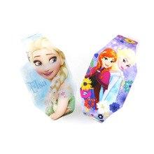 Новинка, светящиеся Детские наручные часы принцессы Эльзы для девочек, Мстители, капитан, светодиодный, детские, студенческие, электронные часы, Reloj Infantil