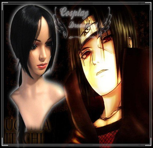 Wholesale Free Shipping Hot Selling Cheapest Halloween Naruto Cosplay Wig Itachi Wig without headband