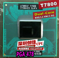 Darmowa Wysyłka intel CPU laptop Core 2 Duo T7800 CPU 4 M Cache Socket 479/2.6 GHz/800/Dual-Core procesor Laptopa wsparcia 965