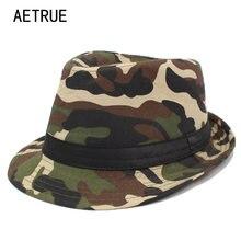 AETRUE ala del sombrero sombreros de las mujeres para los hombres camuflaje  Panamá gorras marca Gorros 44584ec5502