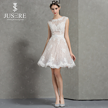 Tank Jewel Neckline Soft Lace Appliqued Crystal Bead Mini Length A line Young Lace Open Low Back Homecoming Dress 2016