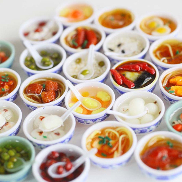 5pcs Lot 1 6 Scale Dollhouse Miniature Chinese Play Food Toy Doll Miniatura