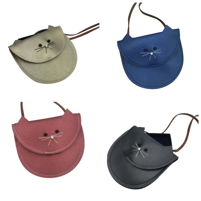 Kids & Baby's Bags Luggage & Bags 1pc New Hottest Small Cat Messenger Bag For Kids Baby Girls Cute Cat Coin Purse Mini Shoulder Children Small Bag